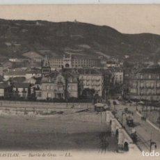 Postales: BARRIO DE GROS-SAN SEBASTIAN-GUIPUZCOA. Lote 211508951