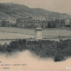 Postales: BARRIO GROS Y MONTE ULIA-SAN SEBASTIAN-GUIPUZCOA. Lote 211509086