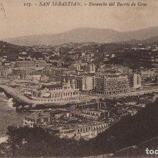 Postales: ENSANCHE BARRIO GROS-SAN SEBASTIAN-GUIPUZCOA. Lote 211509617