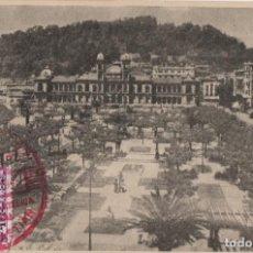 Postales: PALACIO MUNICIPAL-AYUNTAMIENTO-CIRCULADA Y CON SELLO-SAN SEBASTIAN--GUIPUZCOA. Lote 211510309