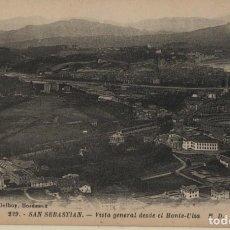 Postales: VISTA GENERAL DESDE EL MONTE ULIA-SAN SEBASTIAN-GUIPUZCOA. Lote 211510495