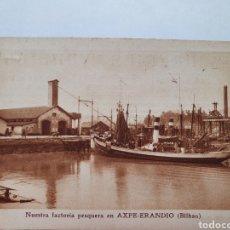 """Postales: PESCADERIAS """"YANDIOLA"""". FACTORIA PESQUERA EN AXPE-ERANDIO. BILBAO. HUECOGRABADO ARTE.. Lote 211620885"""