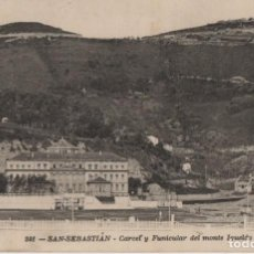 Cartes Postales: CARCEL,Y FUNICULAR DEL MONTE IGUELDO--CIRCULADA Y CON SELLO-SAN SEBASTIAN.--GUIPUZCOA. Lote 211939995