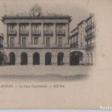 Postales: CASA CONSISTORIAL-SAN SEBASTIAN-GUIPUZCOA. Lote 212017182