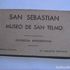 Postales: 20 POSTALES SAN SEBASTIÁN. MUSEO DE SAN TELMO. GUIPÚZCOA RETROSPECTIVA.. Lote 212246605