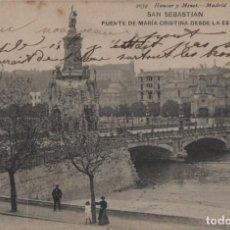 Cartes Postales: PUENTE DE MARIA CRISTINA-CIRCULADA Y CON SELLO-SAN SEBASTIAN-GUIPUZCOA. Lote 212335040