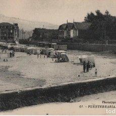 Cartes Postales: LA PLAYA-FUENTERRABIA-GUIPUZOA. Lote 212648903