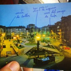Postales: POSTAL VITORIA GASTEIZ PLAZA VIRGEN BLANCA ESCRITA. Lote 214291347