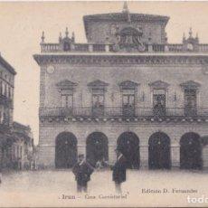 Postales: IRUN (GUIPUZCOA) - CASA CONSISTORIAL - EDICION D. FERNANDEZ. Lote 214918010