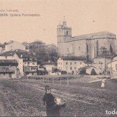 Postales: IRUN (GUIPUZCOA) - IGLESIA PARROQUIAL. Lote 215025586