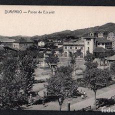 Postales: POSTAL DE DURANGO - PASEO DE EZCURDI - FOTO GERMÁN - SIN CIRCULAR.. Lote 215244021