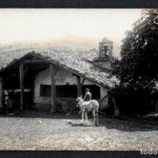 Postales: POSTAL FOTOGRAFICA - HERMITA SAN ANTOLÍN - ABADIÑO - PACTO DE VERGARA - MAROTO Y ESPARTERO.. Lote 215245012