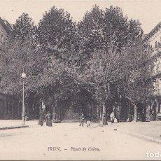 Cartoline: IRUN (GUIPUZCOA) - PASEO DE COLON. Lote 215797873