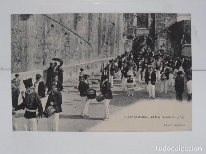 ANTIGUA POSTAL, FUENTERRABIA, EL 8 DE SEPTIEMBRE Nº4, TIBURCIO BERROTARAN, TARJETA POSTAL ESPAÑA (Postales - España - Pais Vasco Antigua (hasta 1939))