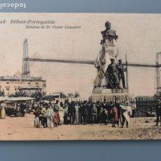 Postales: POSTAL BILBAO Nº 28 PORTUGALETE ESTATUA DE D VICTOR CHAVARRI EDIC LIBRERIA VILLAR VIZCAYA PERFECTA C. Lote 217689841