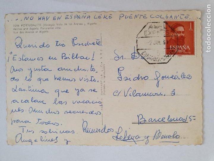 Postales: PORTUGALETE - VISTA DE LAS ARENAS Y ALGORTA - LMX - PV5 - Foto 2 - 217909247