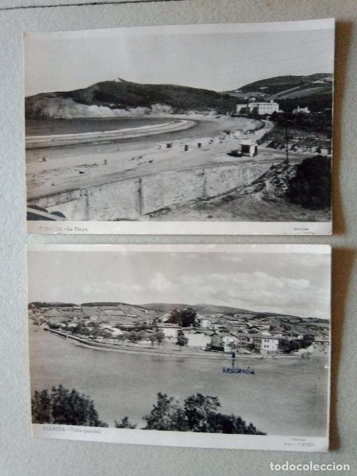 Postales: P-293.- LOTE DE -- 4 -- POSTALES DE -- PLENCIA-- ( VIZCAYA ) LA RIA, VISTA PARCIAL , LA PLAYA , VER - Foto 2 - 217930848