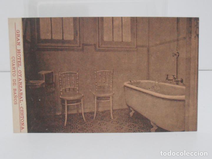 ANTIGUA POSTAL, CESTONA, GRAN HOTEL OYARZABAL, CUARTO DE BAÑOS, TARJETA POSTAL (Postales - España - Pais Vasco Antigua (hasta 1939))