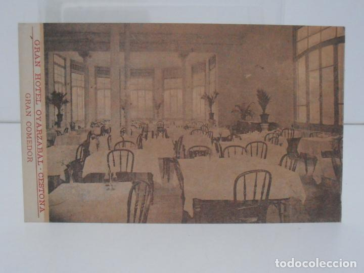 ANTIGUA POSTAL, CESTONA, GRAN HOTEL OYARZABAL, GRAN COMEDOR, TARJETA POSTAL (Postales - España - Pais Vasco Antigua (hasta 1939))