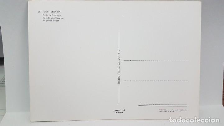 Postales: ANTIGUA POSTAL FUENTERRABÍA. CALLE DE SANTIAGO. 1969 - Foto 2 - 218429217