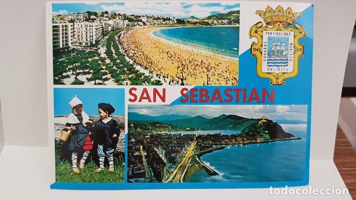 ANTIGUA POSTAL SAN SEBASTIÁN. LA CONCHA 1970 (Postales - España - País Vasco Moderna (desde 1940))