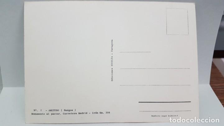 Postales: ANTIGUA POSTAL BURGOS. MANUMENTO AL PASTOR. AMEYUGO - Foto 2 - 218430753