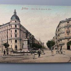 Postales: POSTAL BILBAO 16613 42 GRAN VIA DE LOPEZ DE HARO BANCO VIZCAYA EDIC ROMMLER & JONAS VIZCAYA PERFECTA. Lote 218786077