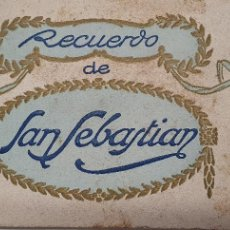 Postales: CUADERNO SEIS POSTALES SAN SEBASTIÁN. AÑOS 40. Lote 219099485