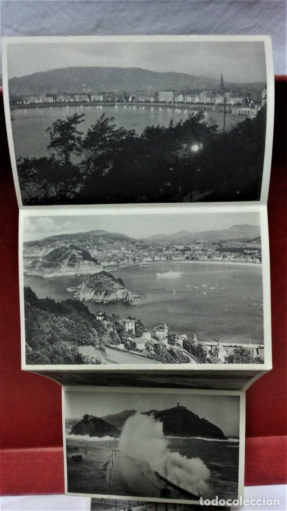 Postales: LOTE 2 ÁLBUMES ACORDEÓN RECUERDO DE SAN SEBASTIÁN.12 VISTAS CADA UNO.SIN ESCRIBIR.FOTOS GALARZA. - Foto 13 - 220599515