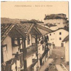 Postales: POSTAL - FUENTERRABIA - BARRIO DE LA MARINA. SIN CIRCULAR.. Lote 221319318