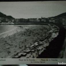 Postales: PLAYA DE LA CONCHA SAN SEBASTIAN BLANCO Y NEGRO SIN CIRCULAR. Lote 221490788