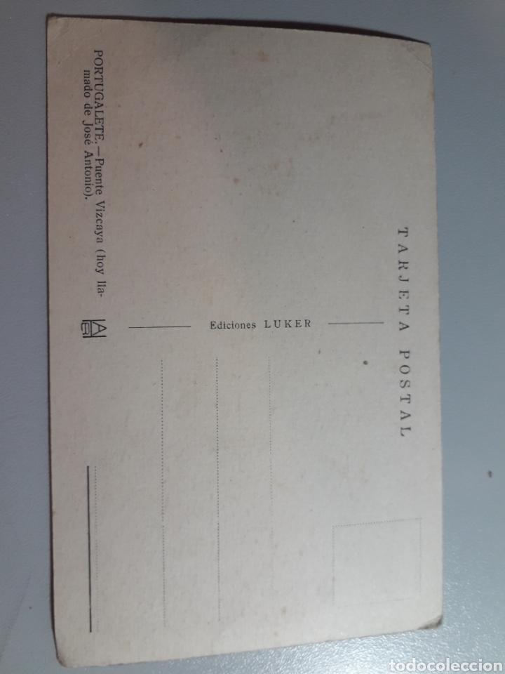 Postales: Puente Vizcaya Portugalete (Hoy llamado José Antonio) Ed Luker Tarjeta Postal - Foto 2 - 221612038