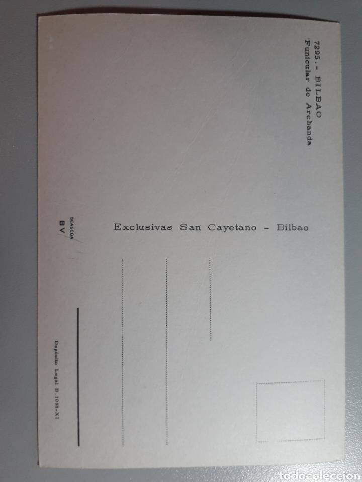 Postales: Bilbao Funicular de Archanda San Cayetano Bilbao Tarjeta Postal no Escrita No Circulada - Foto 2 - 221614093