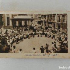Postales: POSTAL DE ZARAUZ, BAILES TIPICOS, ED. M. ARRIBAS - CIRCULADA 1942. Lote 221836651