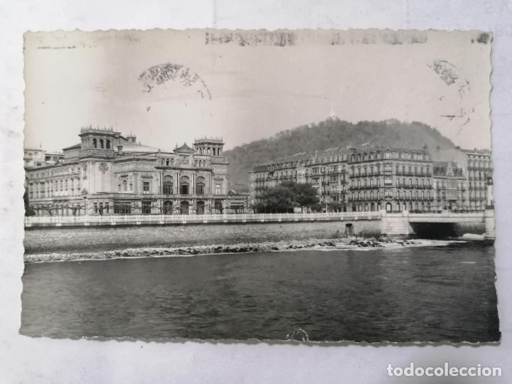 POSTAL SAN SEBASTIAN, TEATRO VICTORIA EUGENIA, ESCRITA AÑOS 50 (Postales - España - País Vasco Moderna (desde 1940))
