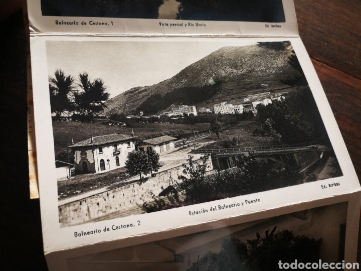 Postales: BLOC 8 POSTALES FOTOGRAFÍAS ARTISTICA RECUERDO BALNEARIO CESTONA (PAÍS VASCO), ED. ARRIBAS. - Foto 5 - 222004581