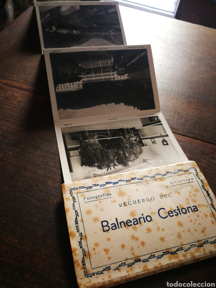 BLOC 8 POSTALES FOTOGRAFÍAS ARTISTICA RECUERDO BALNEARIO CESTONA (PAÍS VASCO), ED. ARRIBAS. (Postales - España - Pais Vasco Antigua (hasta 1939))