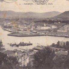 Postales: SAN SEBASTIAN PASAJES SAN PEDRO Y ANCHO. ED. GREGORIO G. GALARZA Nº 3. CIRCULADA. Lote 222039350