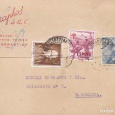 Postales: POSTAL COMERCIAL DE GRAFOS SR.C.. CIRCULADA EN 1953. Lote 222040178