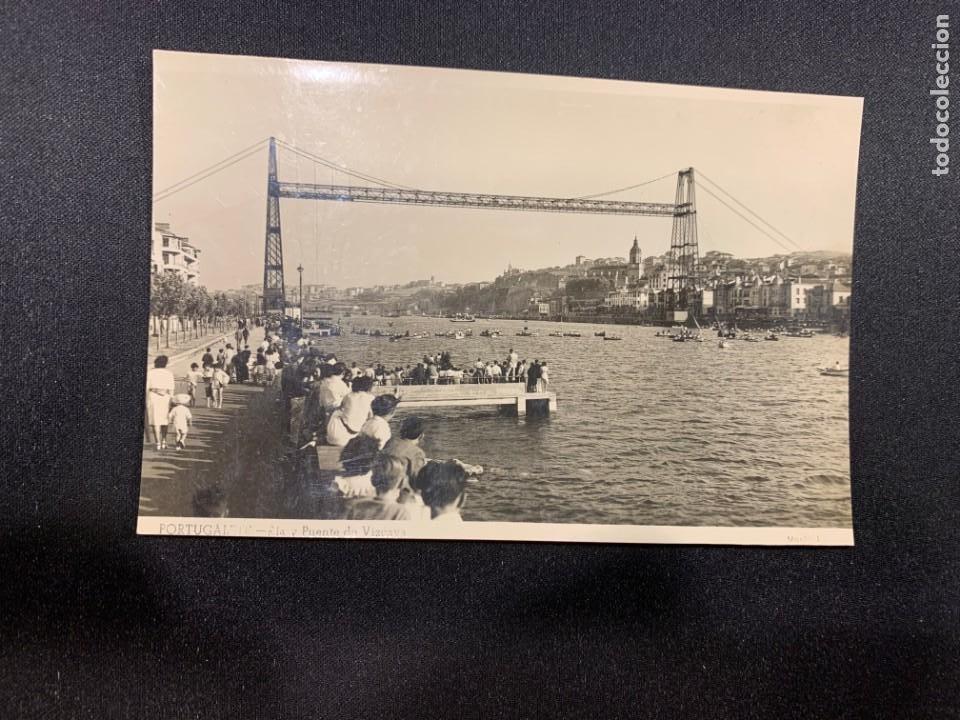 POSTAL ANTIGUA BILBAO RIA Y PUENTE VIZCAYA INSCRITA 1949 (Postales - España - Pais Vasco Antigua (hasta 1939))