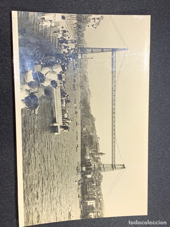 Postales: POSTAL ANTIGUA BILBAO RIA Y PUENTE VIZCAYA INSCRITA 1949 - Foto 3 - 222378847