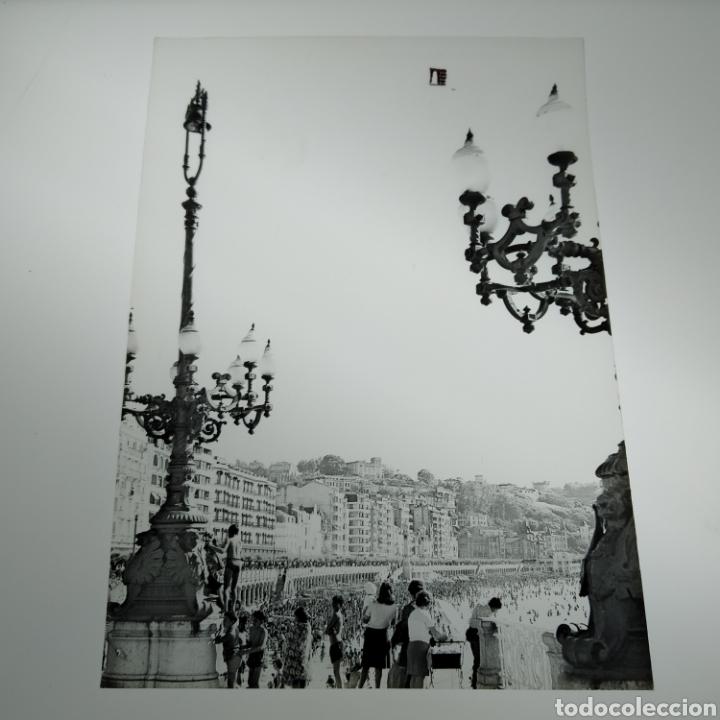 Postales: ¡IRREPETIBLE! San Sebastián Playa de la Concha, EL PERGAMINO Lote de clichés de imprenta + postal - Foto 7 - 222380688