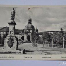 Postales: POSTAL. SANTUARIO DE LOYOLA. VISTA GENERAL. ESCRITA EN 1955.. Lote 222394000