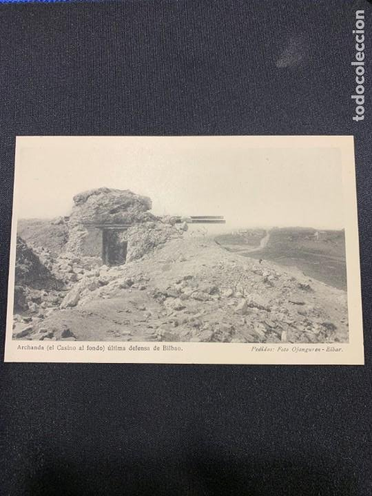 FOTO POSTAL ANTIGUA BILBAO ARCHANCHA CASINO AL FONDO ULTIMA DEFENSA CINTURON DE HIERRO NO CIRCULADA (Postales - España - Pais Vasco Antigua (hasta 1939))