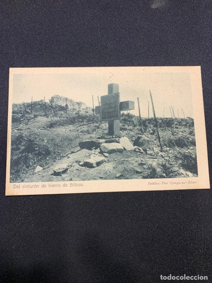 FOTO POSTAL ANTIGUA BILBAO CINTURON DE HIERRO CAMPO BATALLA MONTE BIZCARGUI NO CIRCULADA (Postales - España - Pais Vasco Antigua (hasta 1939))
