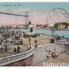 Postales: ANTIGUA POSTAL PORTUGALETE LA PLAZA L G BILBAO 1919. Lote 222557573