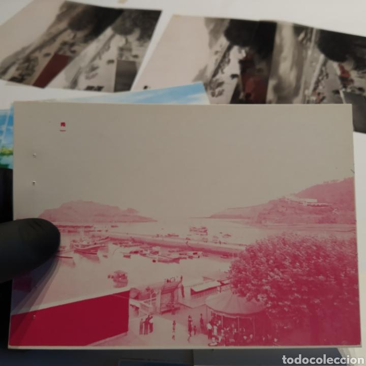 Postales: ¡IRREPETIBLE! Lequeitio, Puerto, Bahía y Kurlutxu EL PERGAMINO Lote clichés imprenta + prueba postal - Foto 11 - 222596622