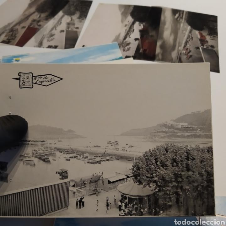 Postales: ¡IRREPETIBLE! Lequeitio, Puerto, Bahía y Kurlutxu EL PERGAMINO Lote clichés imprenta + prueba postal - Foto 12 - 222596622