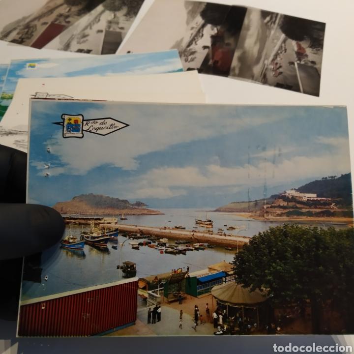 Postales: ¡IRREPETIBLE! Lequeitio, Puerto, Bahía y Kurlutxu EL PERGAMINO Lote clichés imprenta + prueba postal - Foto 14 - 222596622