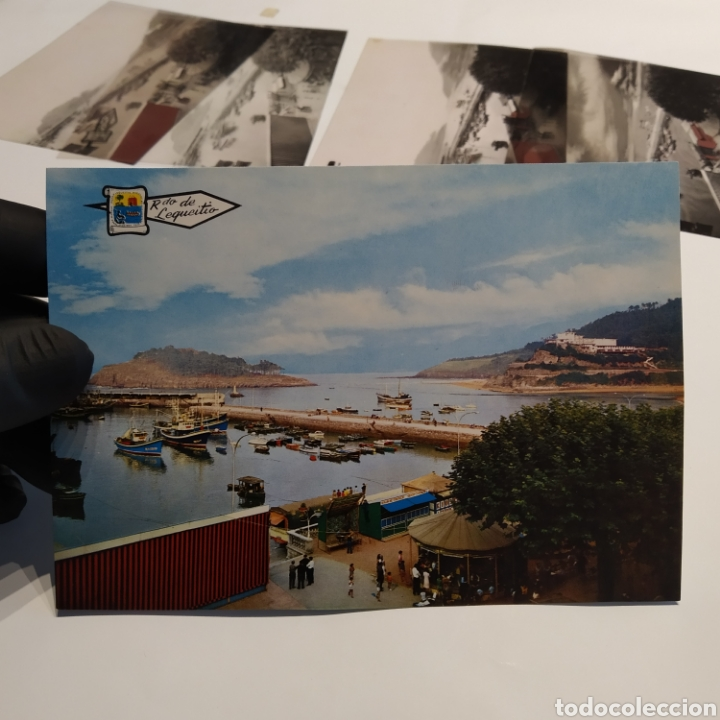 Postales: ¡IRREPETIBLE! Lequeitio, Puerto, Bahía y Kurlutxu EL PERGAMINO Lote clichés imprenta + prueba postal - Foto 2 - 222596622